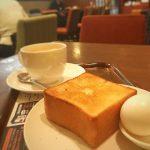 名古屋栄地下の上島珈琲店でモーニング打合せ️ 上島珈琲店で、初のモーニング️ シンプルに 「ゆで卵&厚切りバタートースト」 黒糖ミルク珈琲が美味い(*^_^*)そして、厚切りパンもふわふわっと美味しい( ^ω^ ) そして️10%offのクーポンを使うとお得に(^^)v 最近のおすすめカフェです(^^) #名古屋 #栄 #栄カフェ #カフェ #上島珈琲店 #モーニング #黒糖 #黒糖ミルク珈琲 #パン #cafe #美味しい